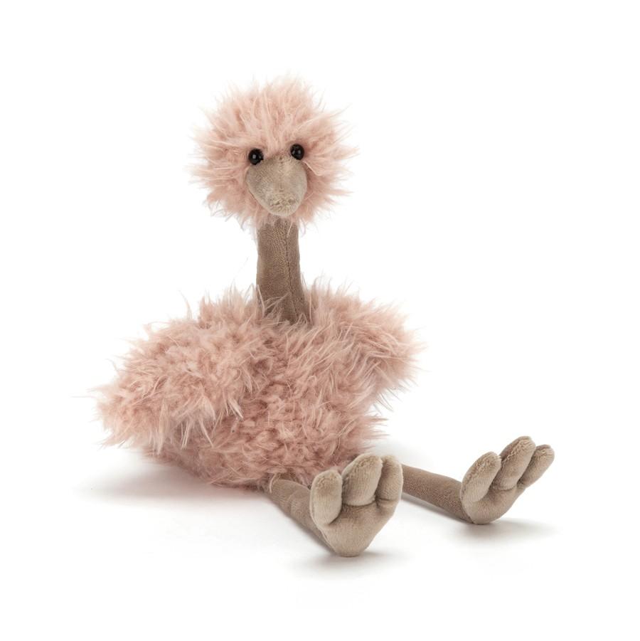 Der kuschelige, weiche Strauß von Jellycat bringt etwas mehr Artenvielfalt ins Kinderzimmer, ca. 17,50 Euro www.jellycat.com