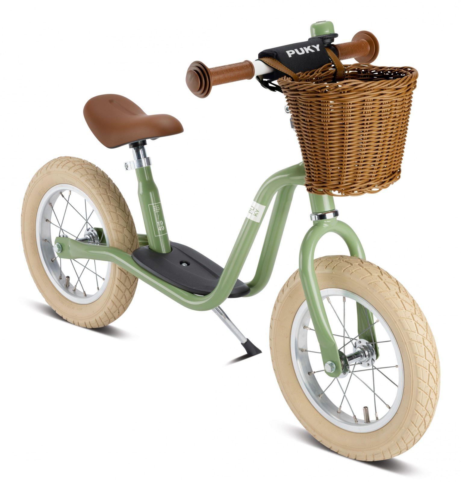 Viele kennen das markante, gelb-rote Laufrad von Puky aus ihrer eigenen Kindheit. Inzwischen bietet der Hersteller viele weitere Modelle an, darunter auch dieses trendige Retro-Modell in Grün. Ab 139,99 Euro. www.puky.de