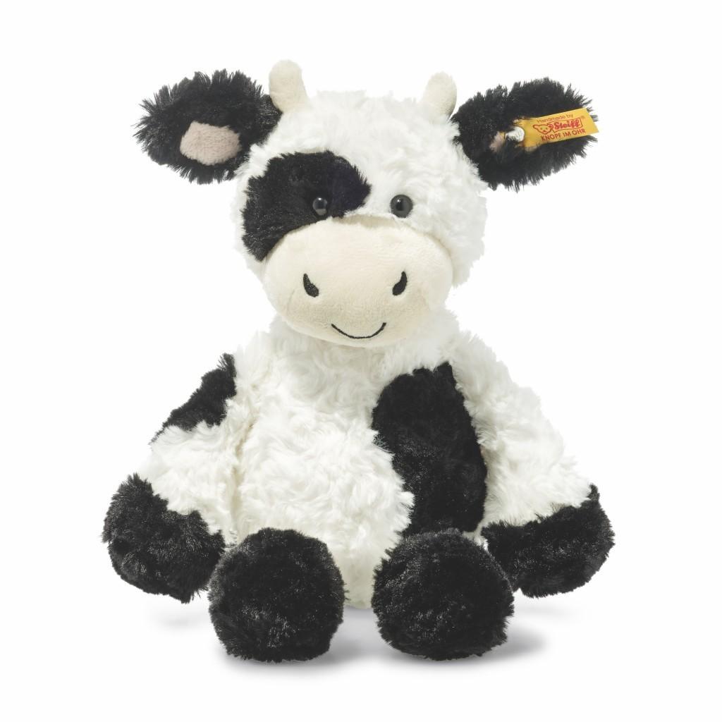 """In der neuen Kollektion widmet sich das Traditionsunternehmen Steiff unter anderem Bauernhoftieren wie hier mit """"Cobb Kuh"""", ca. 29,90 Euro www.steiff.com"""