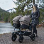 Der tfk Kombikinderwagen in der Ausführung duo: Für aktive Eltern mit zwei Kindern.