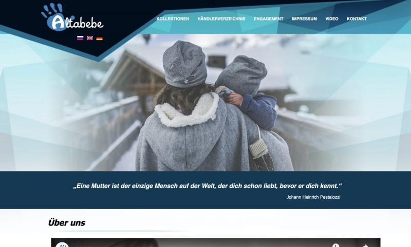 Screenshot der Marke Altabebe