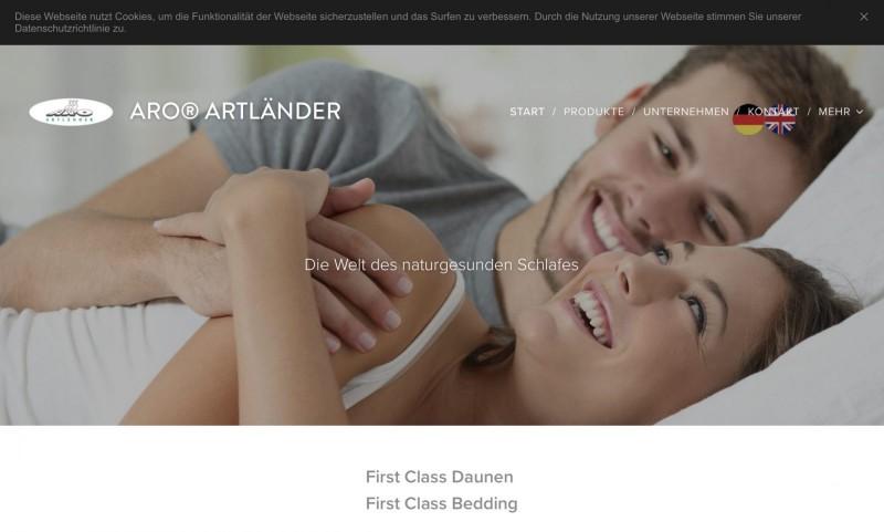 Screenshot der Marke Aro Artländer