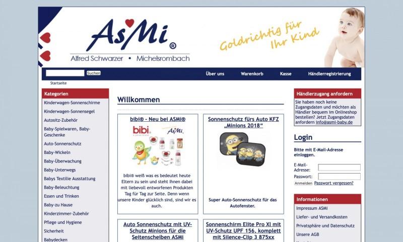 Screenshot der Marke Asmi