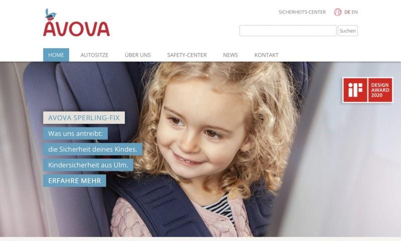 Screenshot der Marke Avova