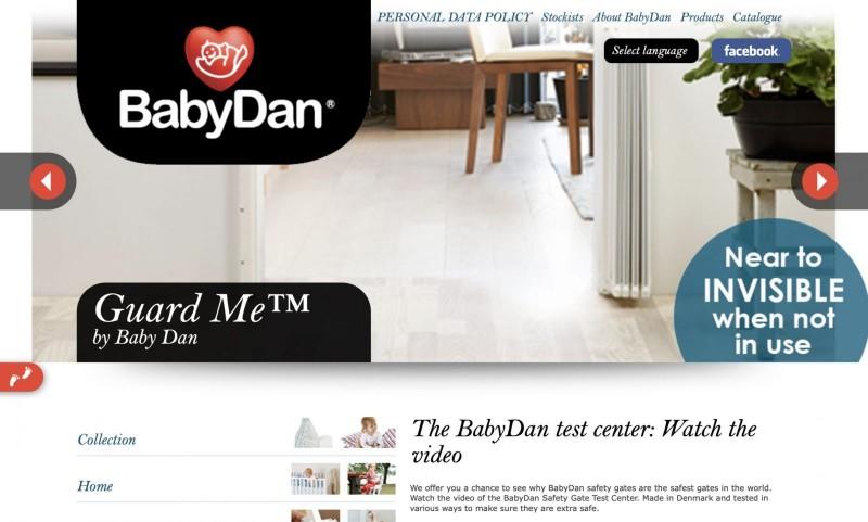 Screenshot der Marke Babydan