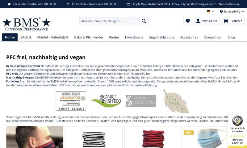Screenshot der Marke Bms