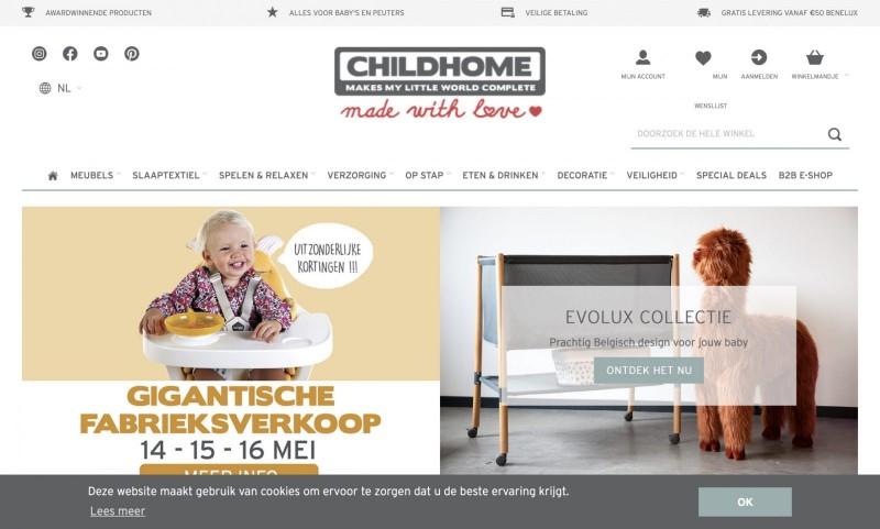 Screenshot der Marke Childhome