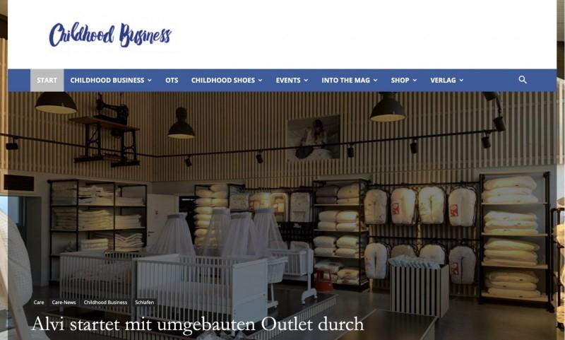 Screenshot der Marke Childhood Business
