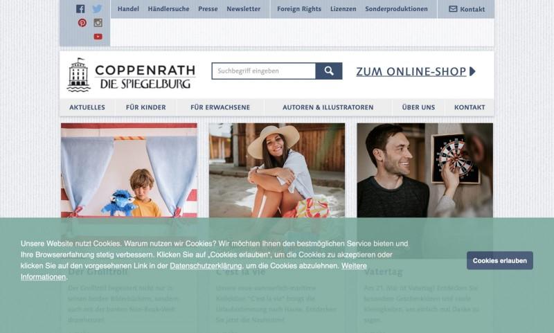 Screenshot der Marke Coppenrath Verlag