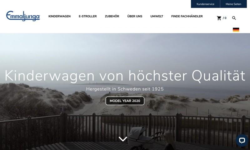 Screenshot der Marke Emmaljunga