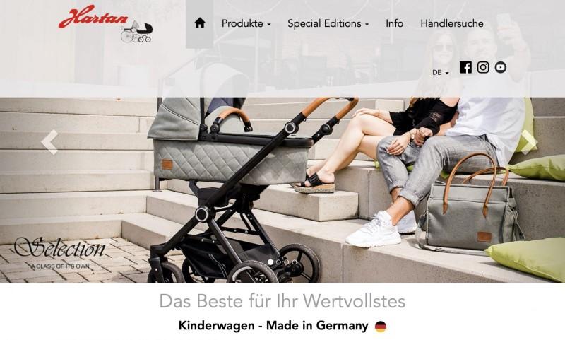 Screenshot der Marke Hartan