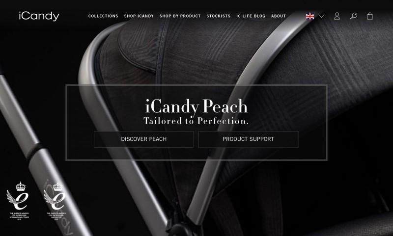 Screenshot der Marke Icandy