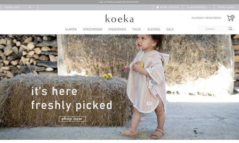 Screenshot der Marke Koeka