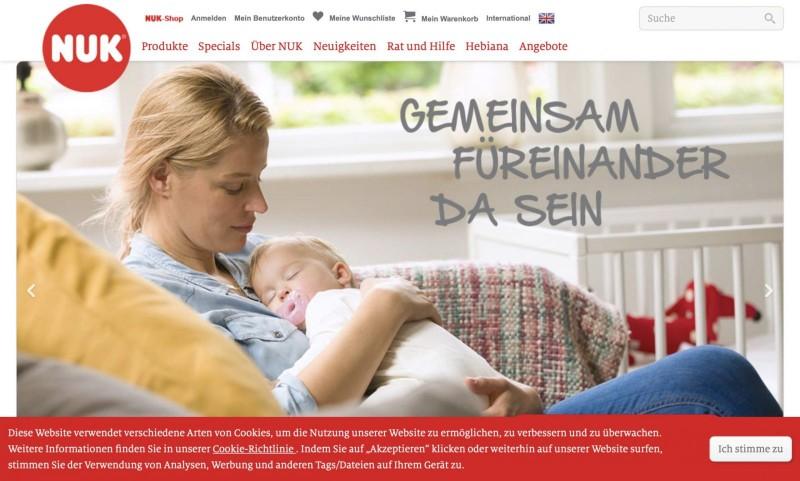 Screenshot der Marke Nuk