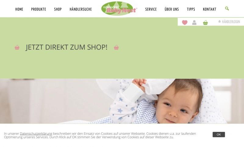 Screenshot der Marke Odenwälder Babynest