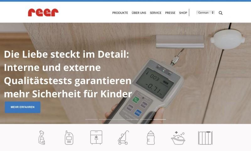 Screenshot der Marke Reer