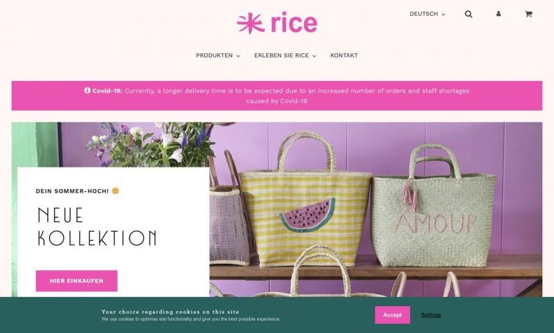 Screenshot der Marke Rice