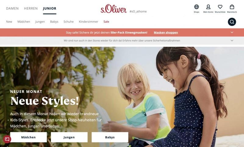 Screenshot der Marke S oliver