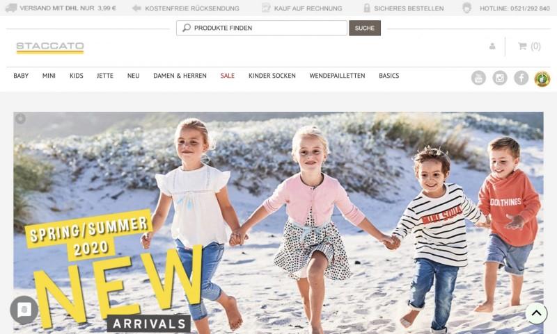 Screenshot der Marke Staccato Kids