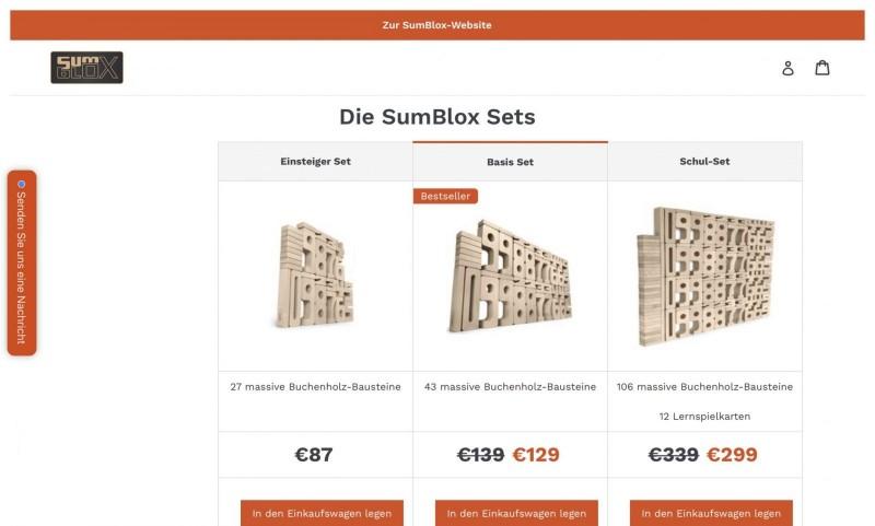 Screenshot der Marke Sumblox
