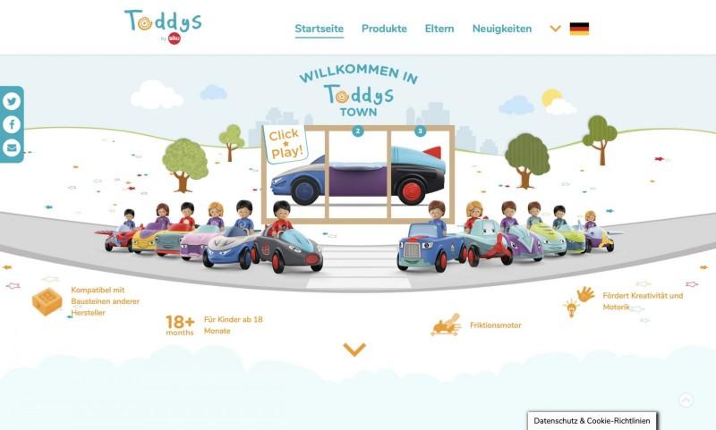 Screenshot der Marke Toddys