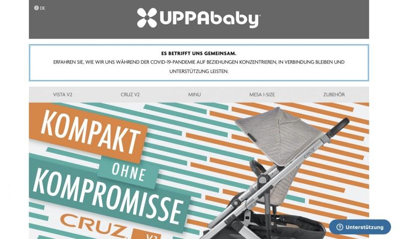 Screenshot der Marke Uppababy